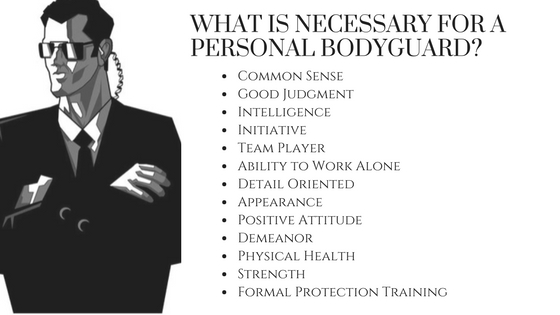 Personal Bodyguard Qualities